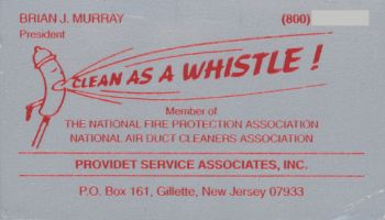 [Original Clean-As-A-Whistle Business Card]